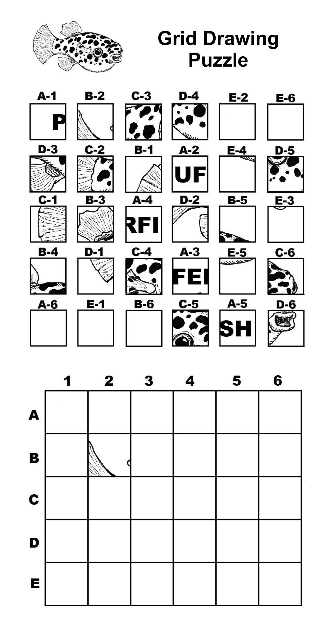 5 Best Mystery Grid Drawing Worksheets Printables Printablee Com