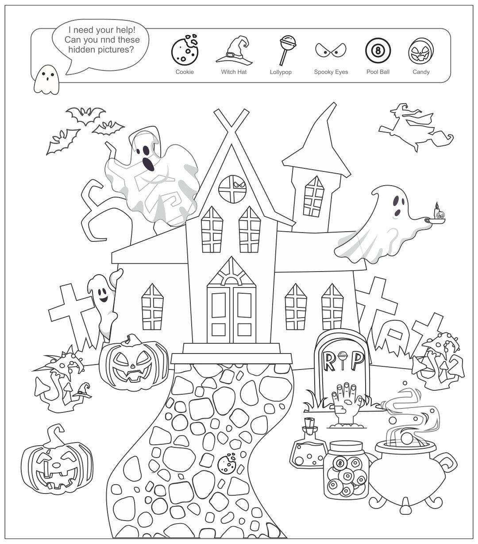 ... Hidden Picture Printable - Free Printable Halloween Hidden