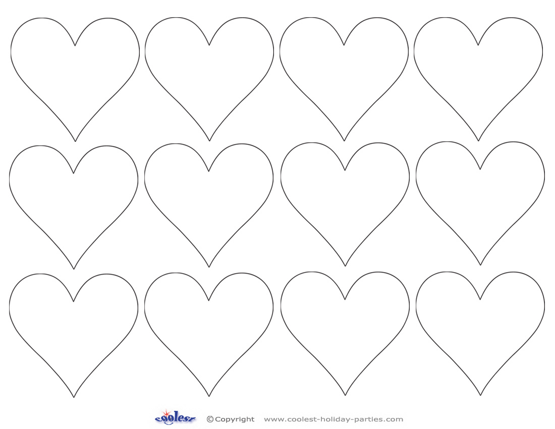 6 Images of Printable Heart Cut Out Template