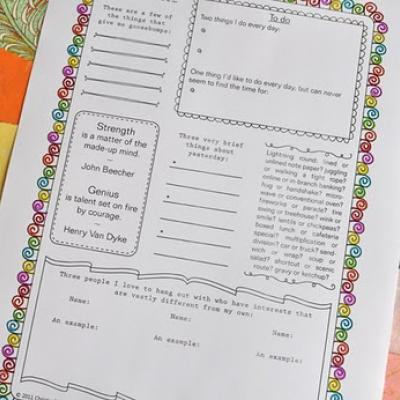 9 Images of Printable Journal Pages For Adults