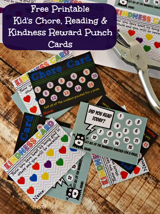 4 best images of printable reading punch cards reading punch card template printable homework. Black Bedroom Furniture Sets. Home Design Ideas