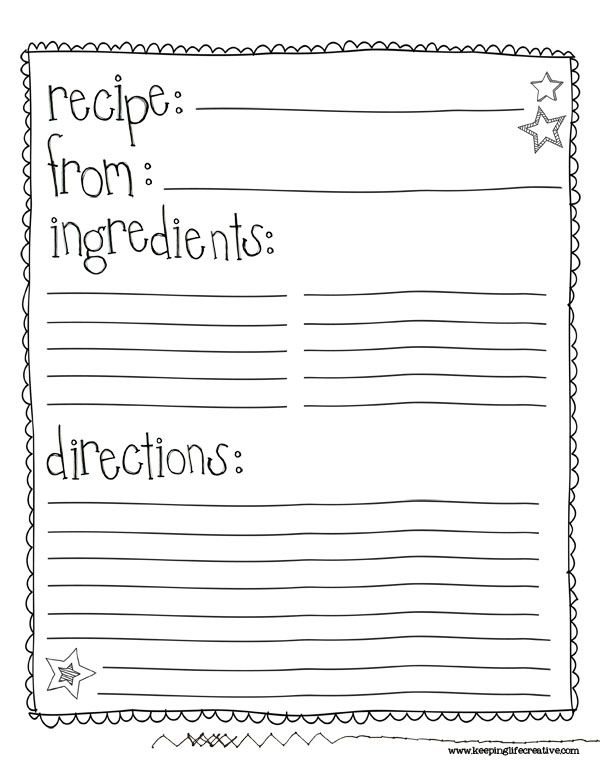 6 Images of Printable Recipe Book Template