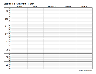 Free Printable Weekly Appointment Calendar Template