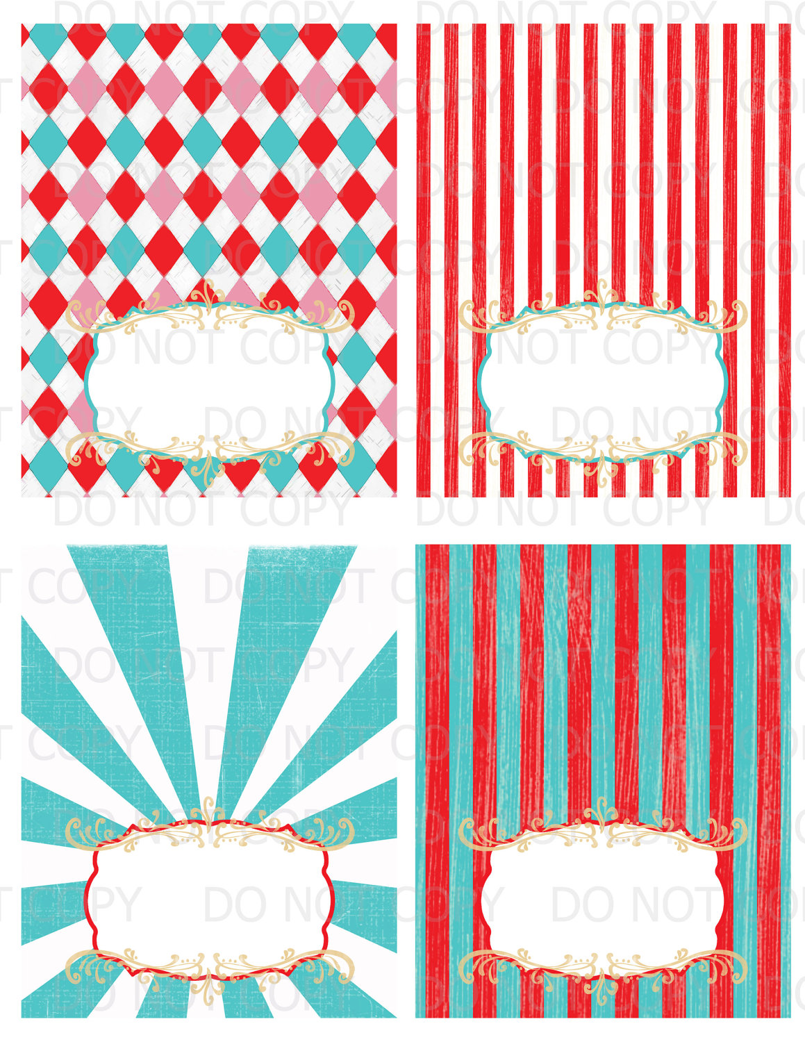 8 best images of carnival vintage printable label for Circus printables