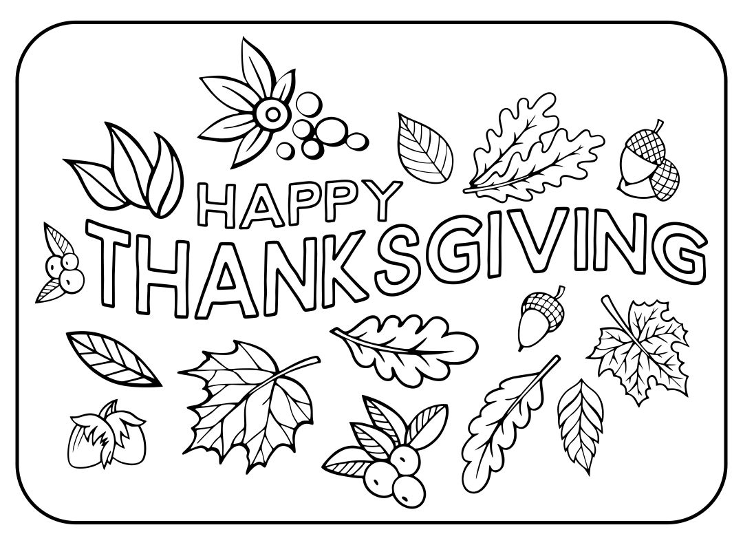 thanksgiving pre k coloring pages - photo#17