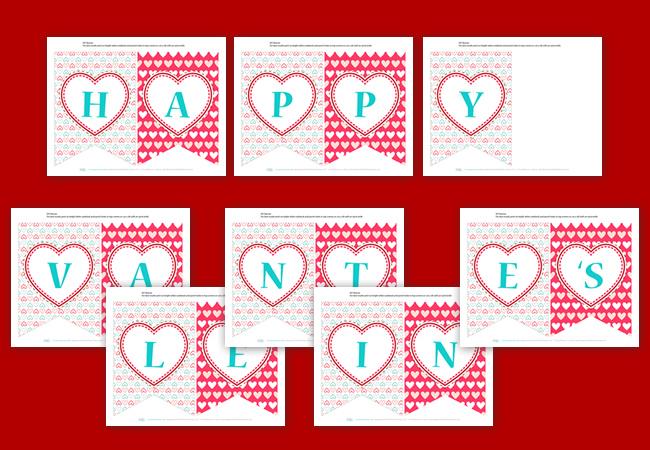 8 Best Images of Valentine's Banner Printables - Printable ... Happy Valentines Day Banner Printable