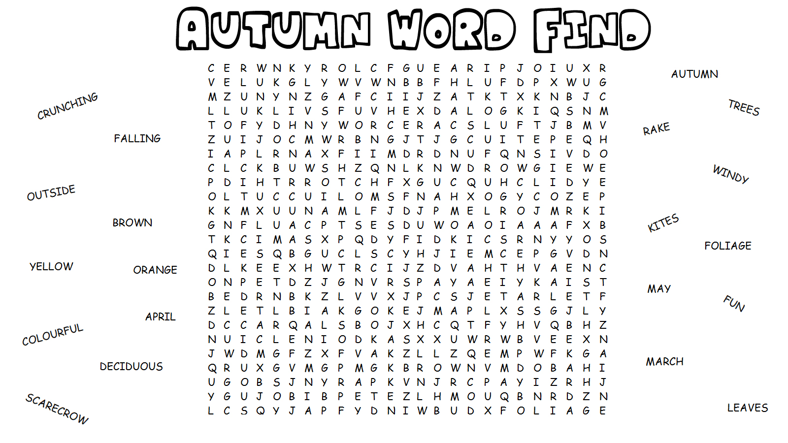 Hard Printable Word Searches for Kids