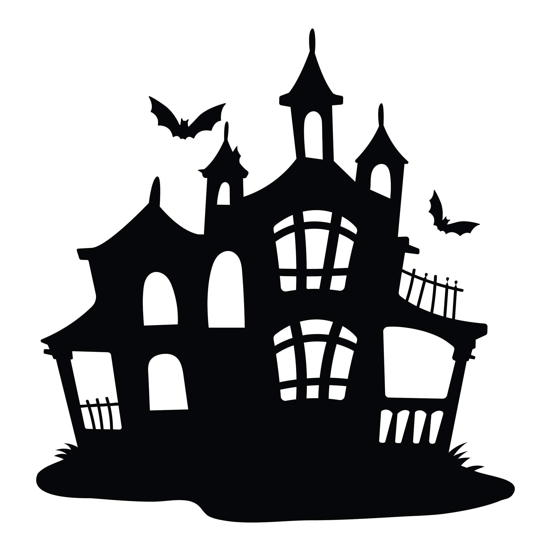 Haunted House Silhouette Clip Art