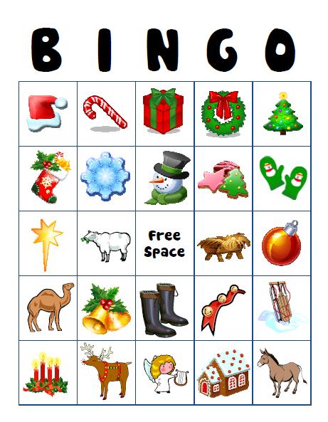 Holiday Bingo Game Cards - Free
