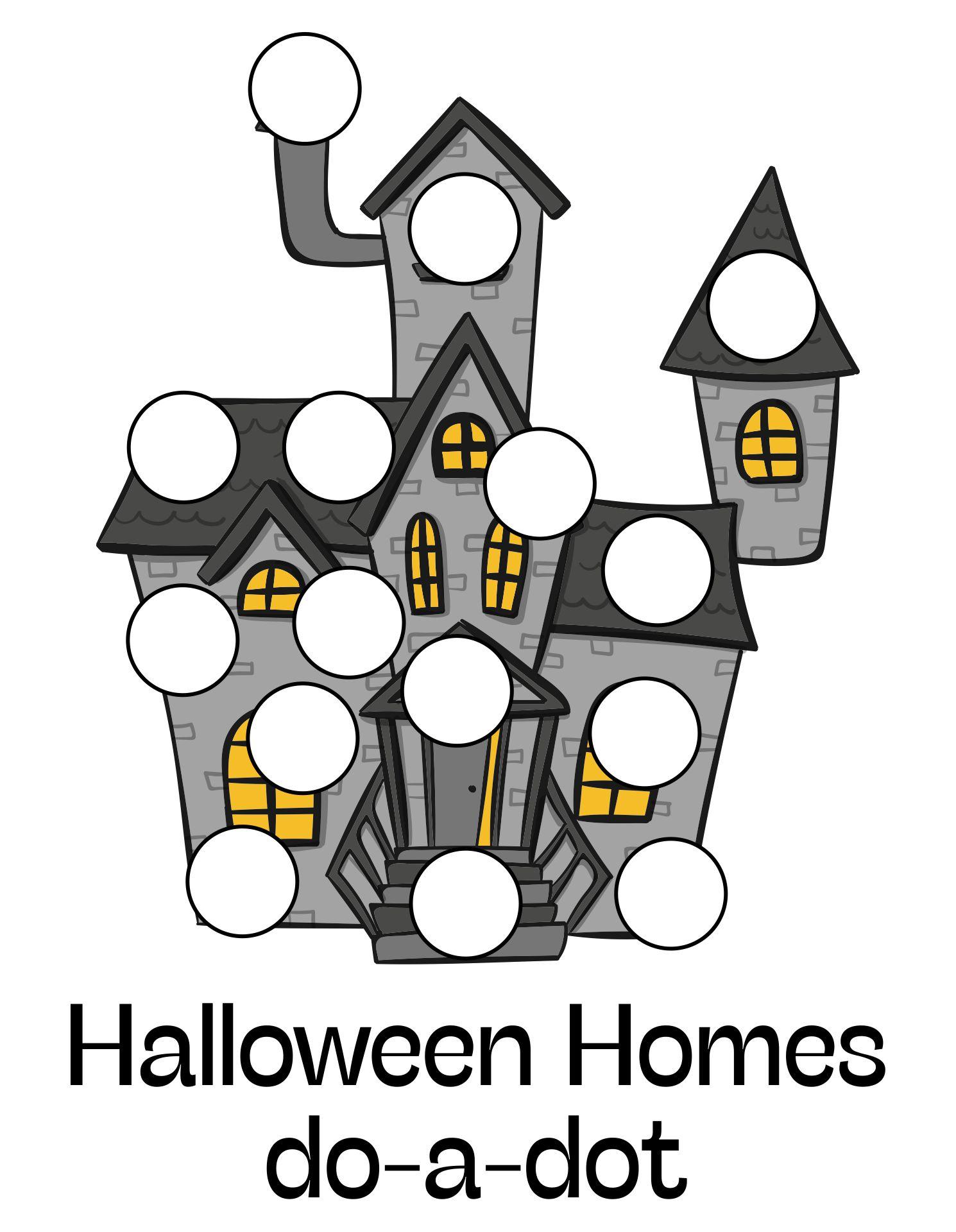 Homes Do a Dot Printables