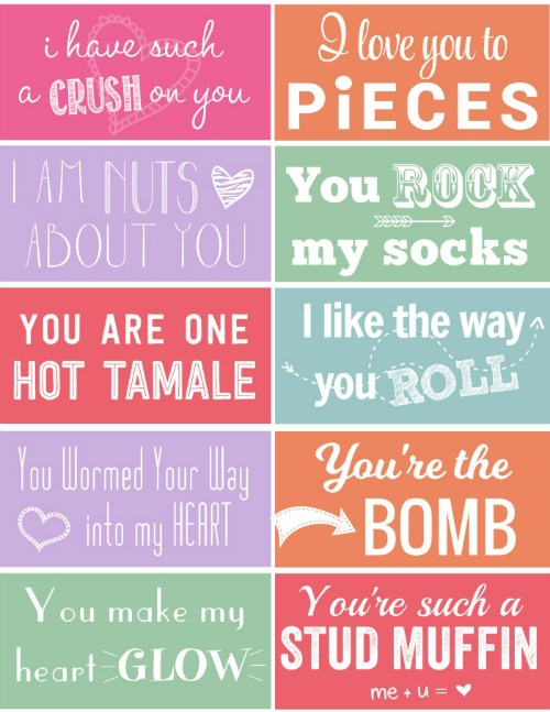 6 Images of I Love You To Pieces Valentine Printable Tag