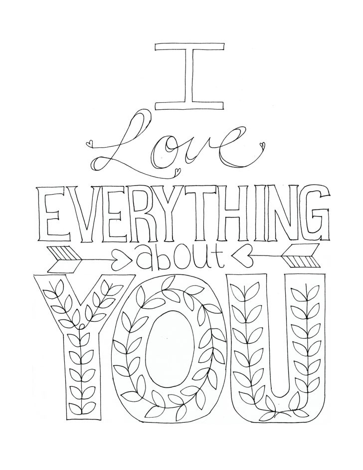 coloring pages everything 7 best images of i love you coloring cards printable i