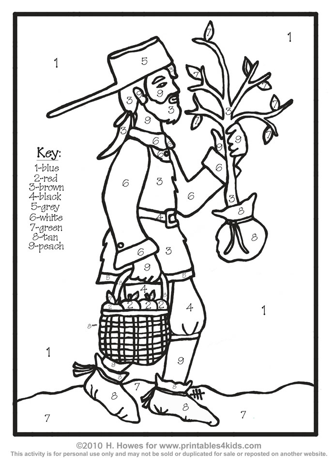 6 Best Images of Print Johnny Appleseed