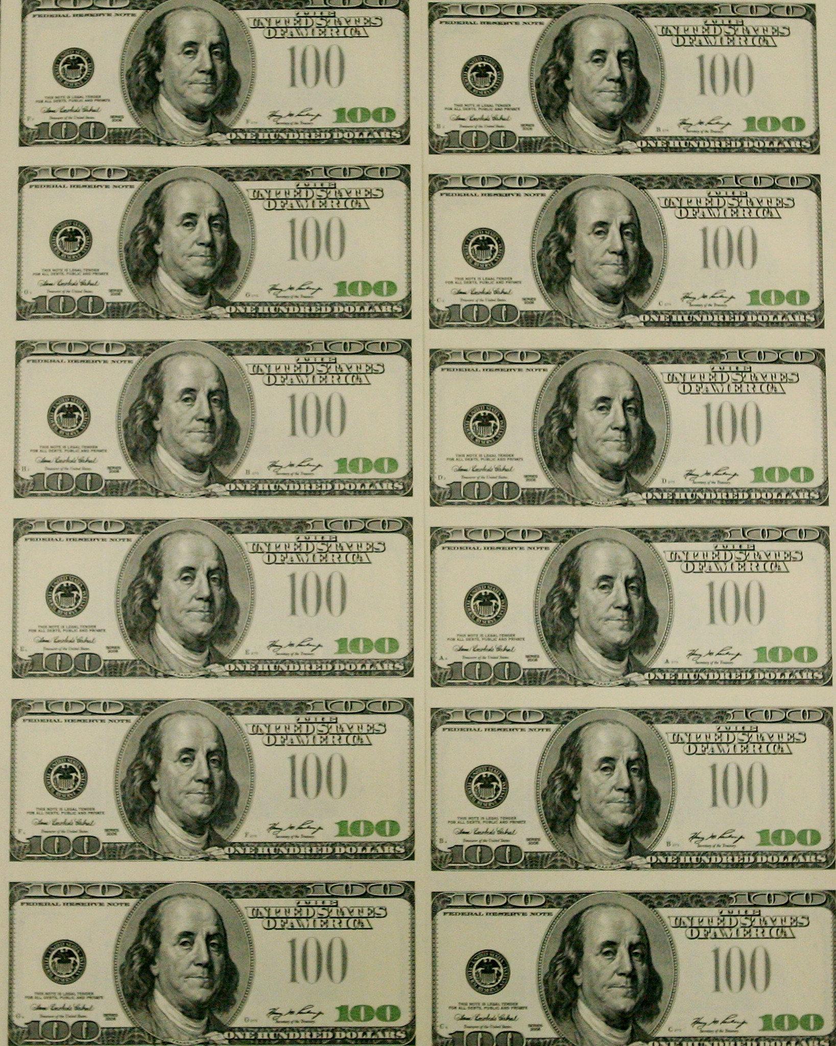 5 Images of Printable Fake Money Bills