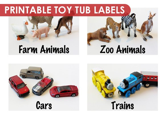 Kids Toy Labels Printable