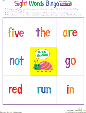 6 Images of Printable Bingo For Kindergarten