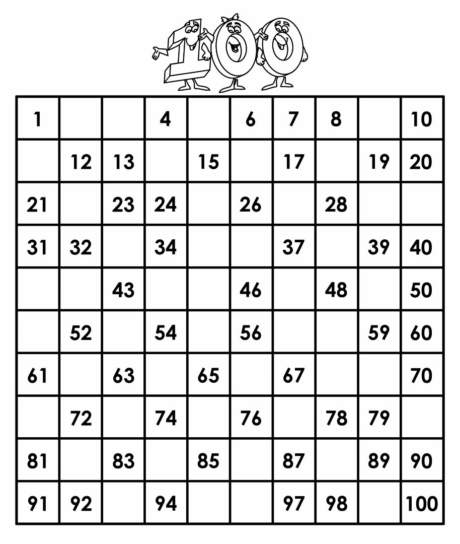 Kindergarten Worksheets Numbers 1 100