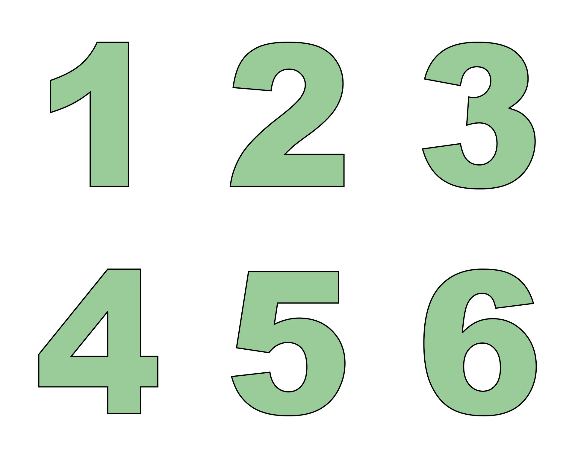 7 Images of Large Printable Number 6