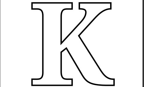 6 Images of Printable Letter K