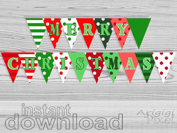 9 Images of DIY Christmas Banner Printable Free