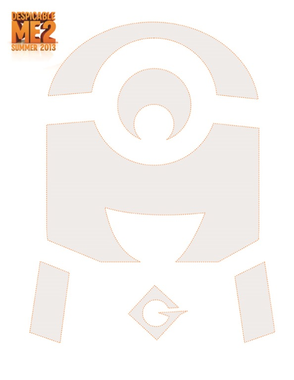 6 Images of Minion Pumpkin Stencil Printable