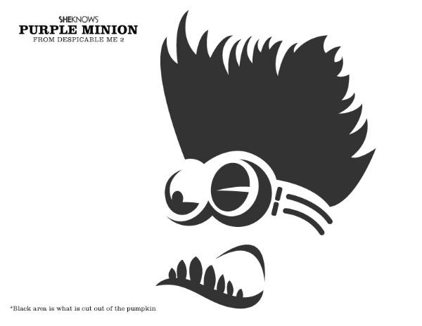 Best images of minion pumpkin stencil printable