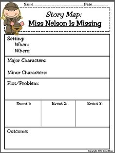 Pictures Miss Nelson Is Missing Worksheets - Studioxcess