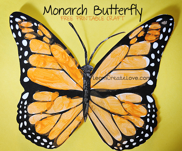 5 Images of Monarch Butterfly Template Printable