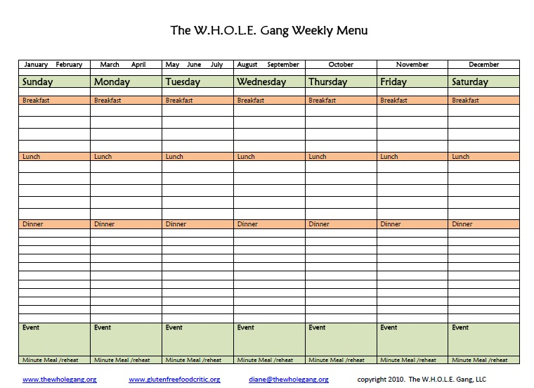 Weekly Calendar Worksheet : Best images of menu planning free printable worksheets