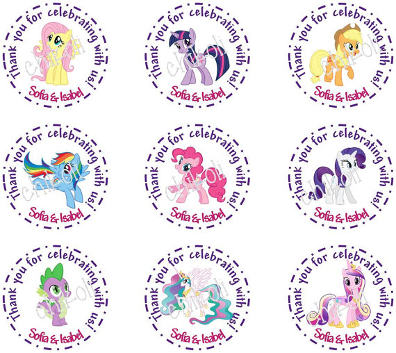 8 Images of My Little Pony Printable Tags