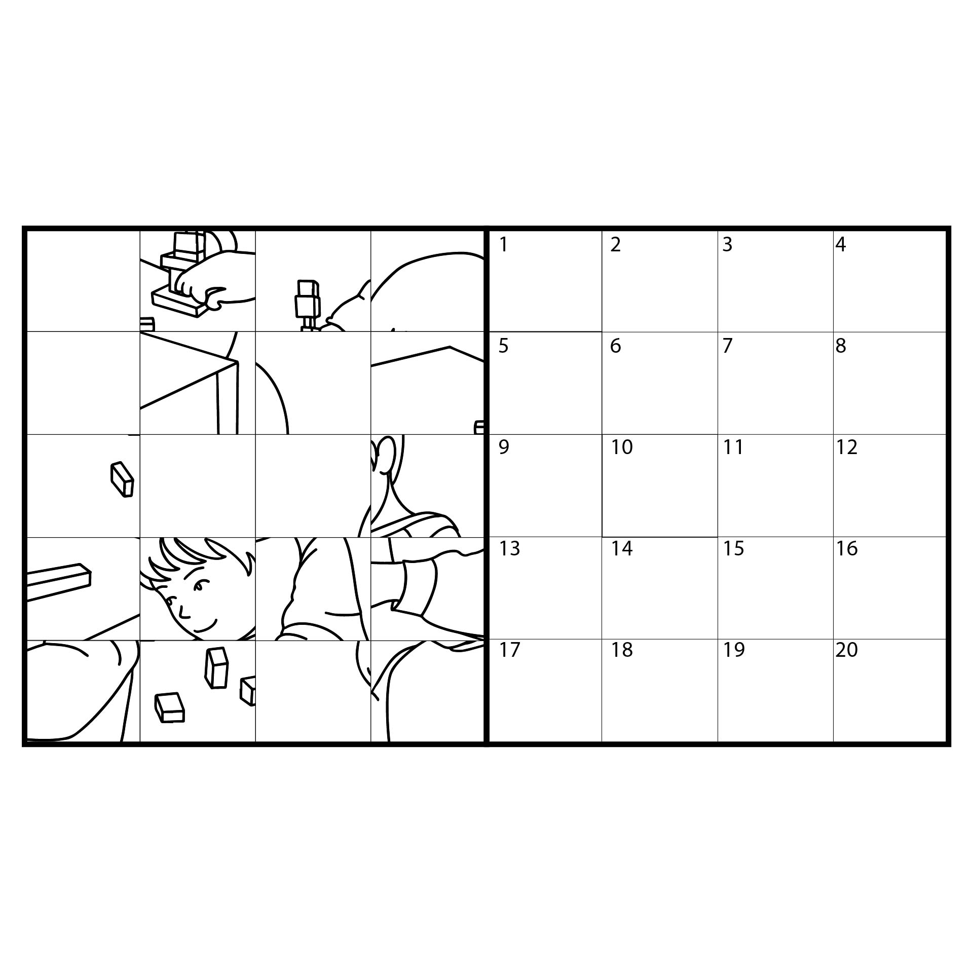 Mystery Grid Drawing