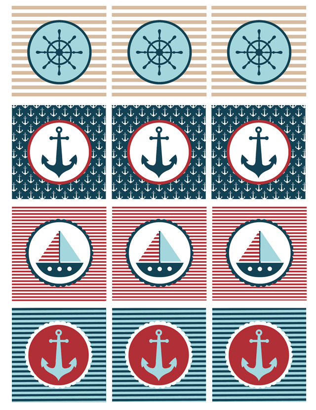 9 Images of Nautical Party Printables