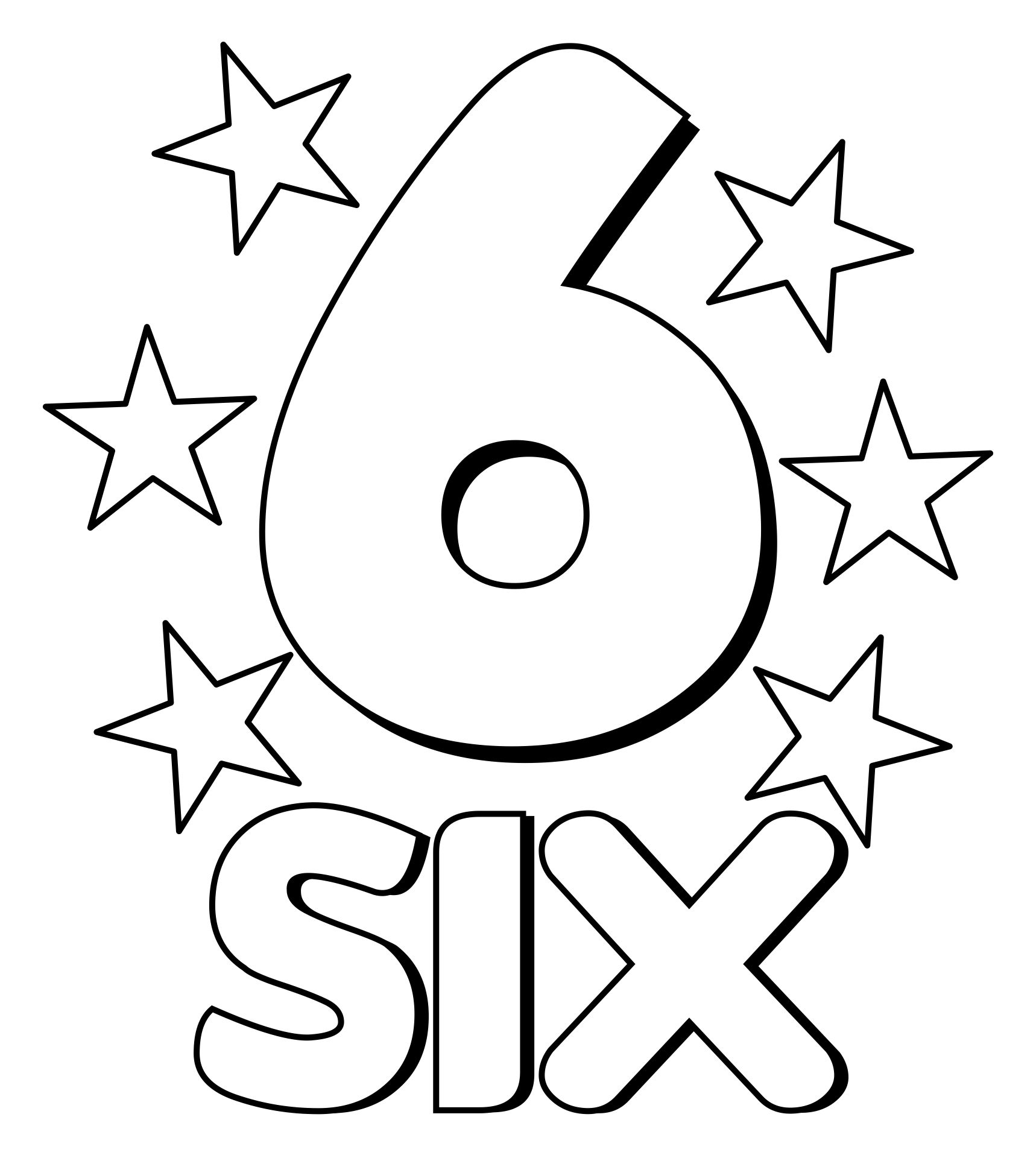 Number 6 Coloring Pages Printable