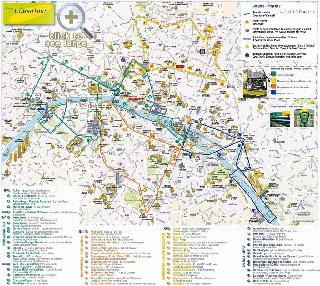 9 Best Images of Printable Map Of Paris Travel Printable Map of – Paris Tourist Maps