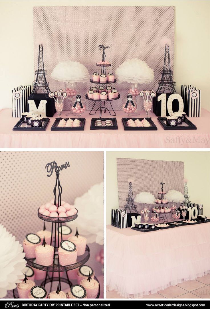 7 Images of Printable Cupcake Birthday Invitations-Paris