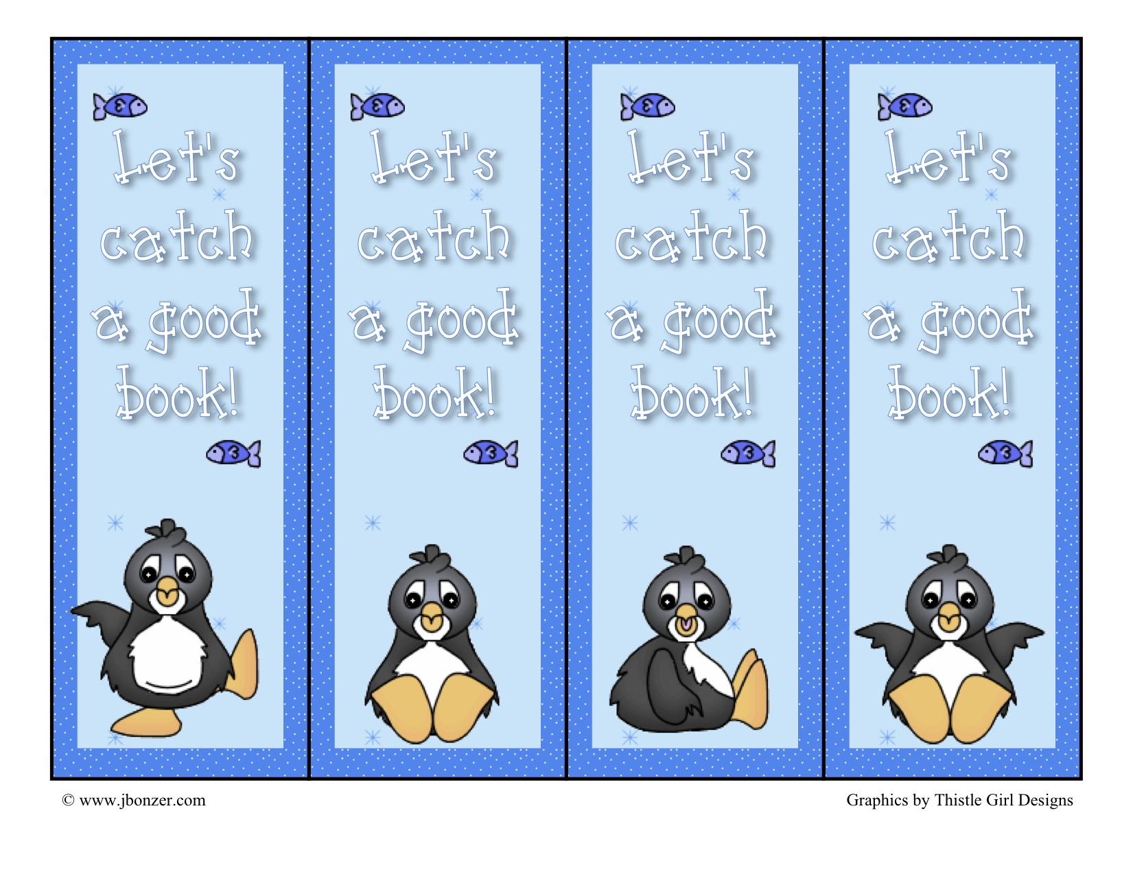 7 Images of Penguin Printable Bookmarks