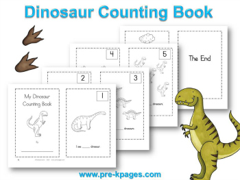 6 Images of Dinosaur Counting Printables