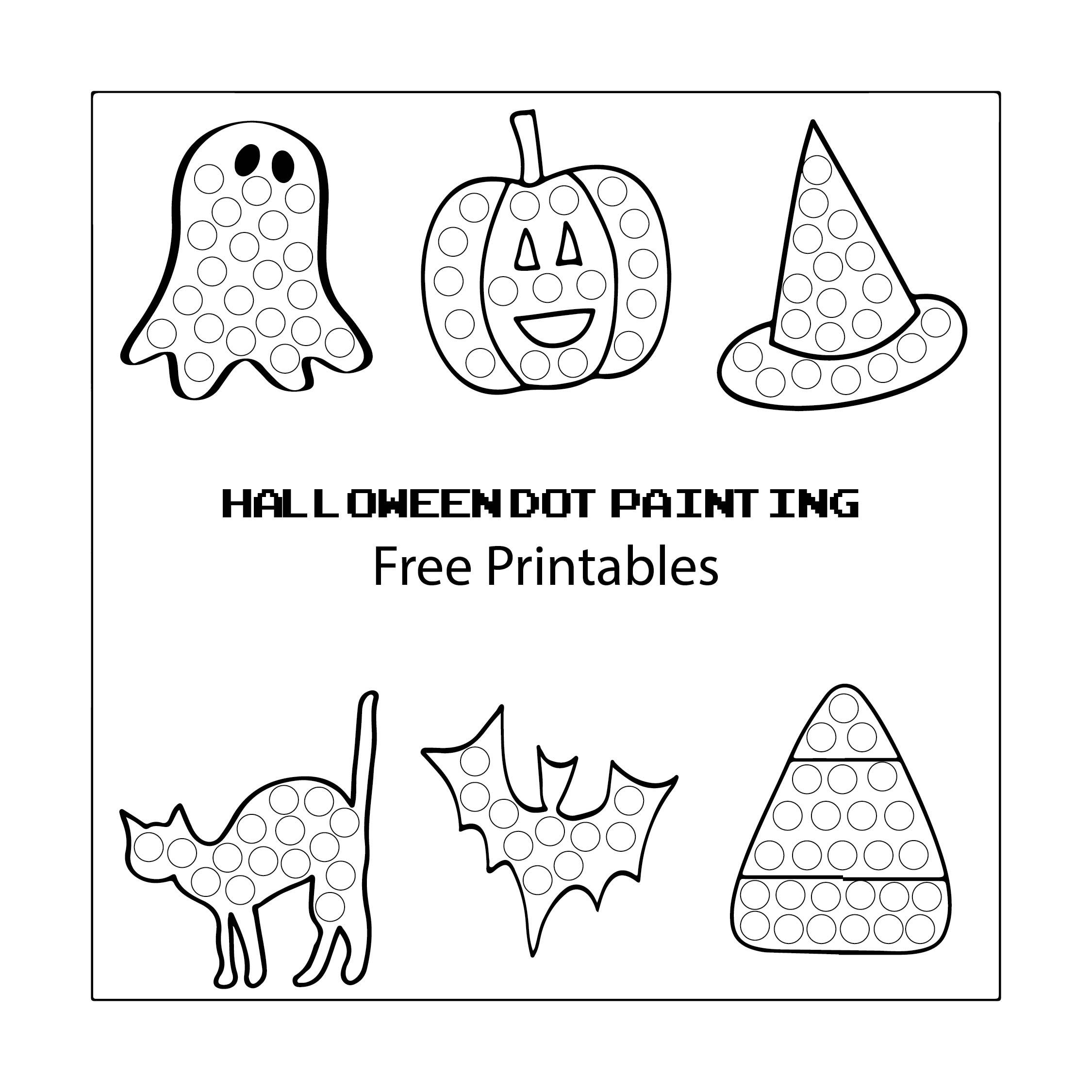 Preschool Halloween Do a Dot Printables