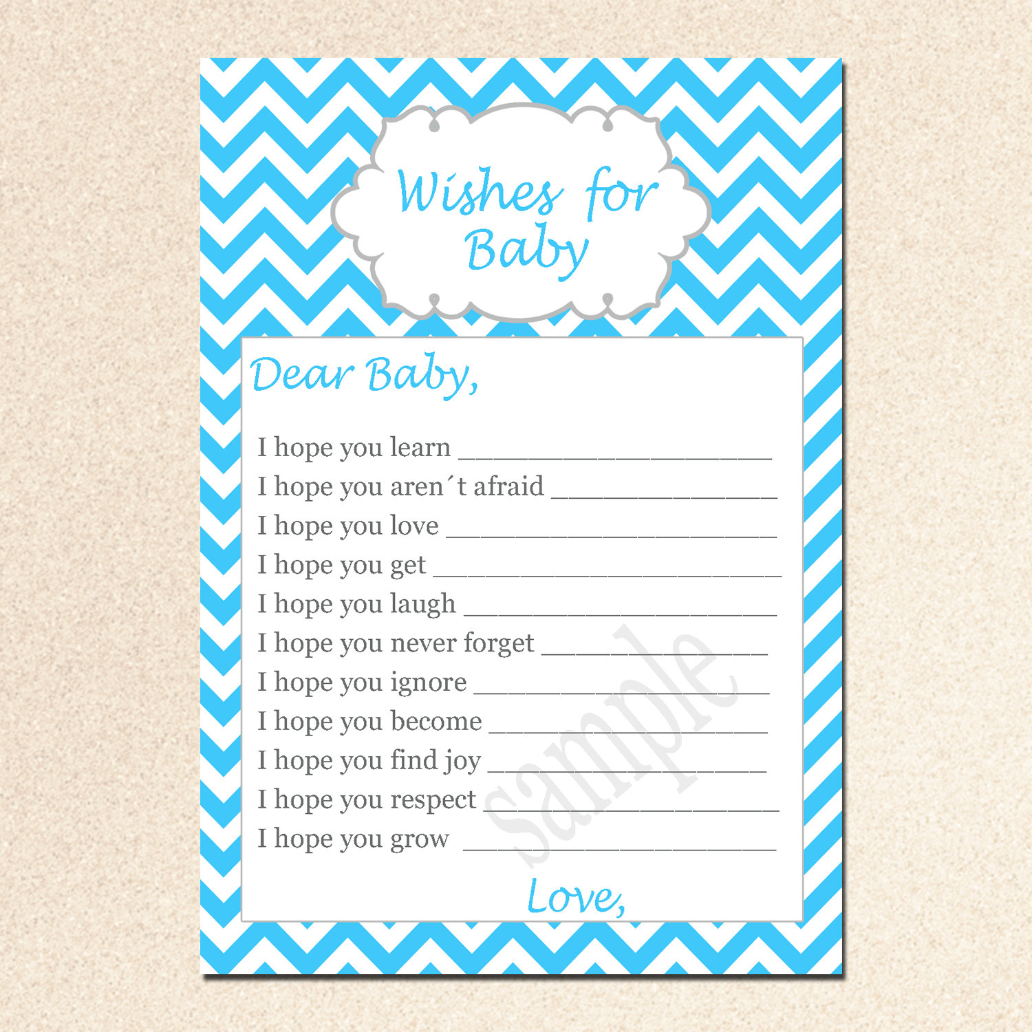7 Images of Printable Wishes For Baby Shower