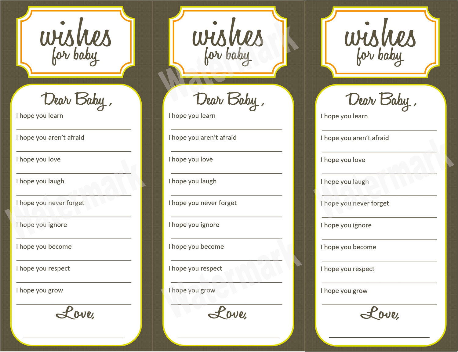 baby shower printable baby shower wishes free printable baby shower