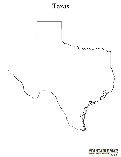 5 Images of Printable Map Of Texas State