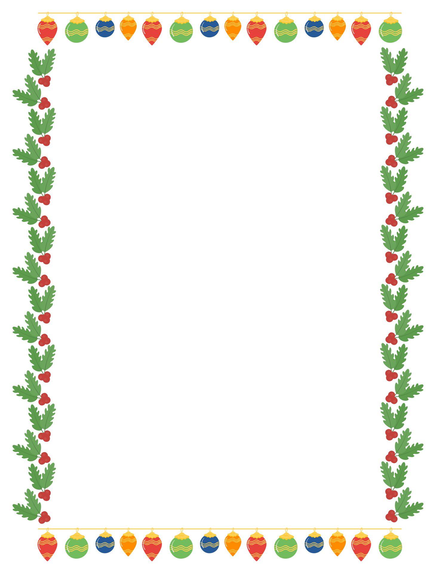 Printable Christmas Lights Border