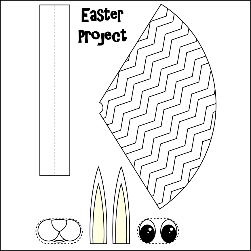 Printable Easter Crafts for Kids Templates