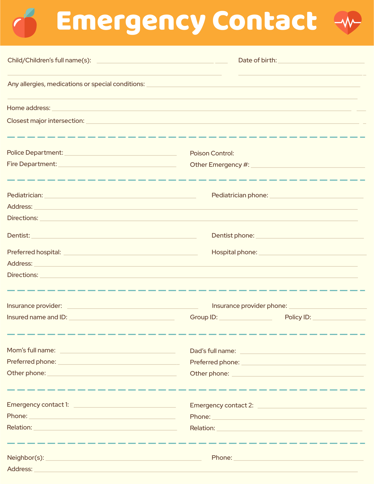 4 Images of Printable Babysitter Medical Release Form