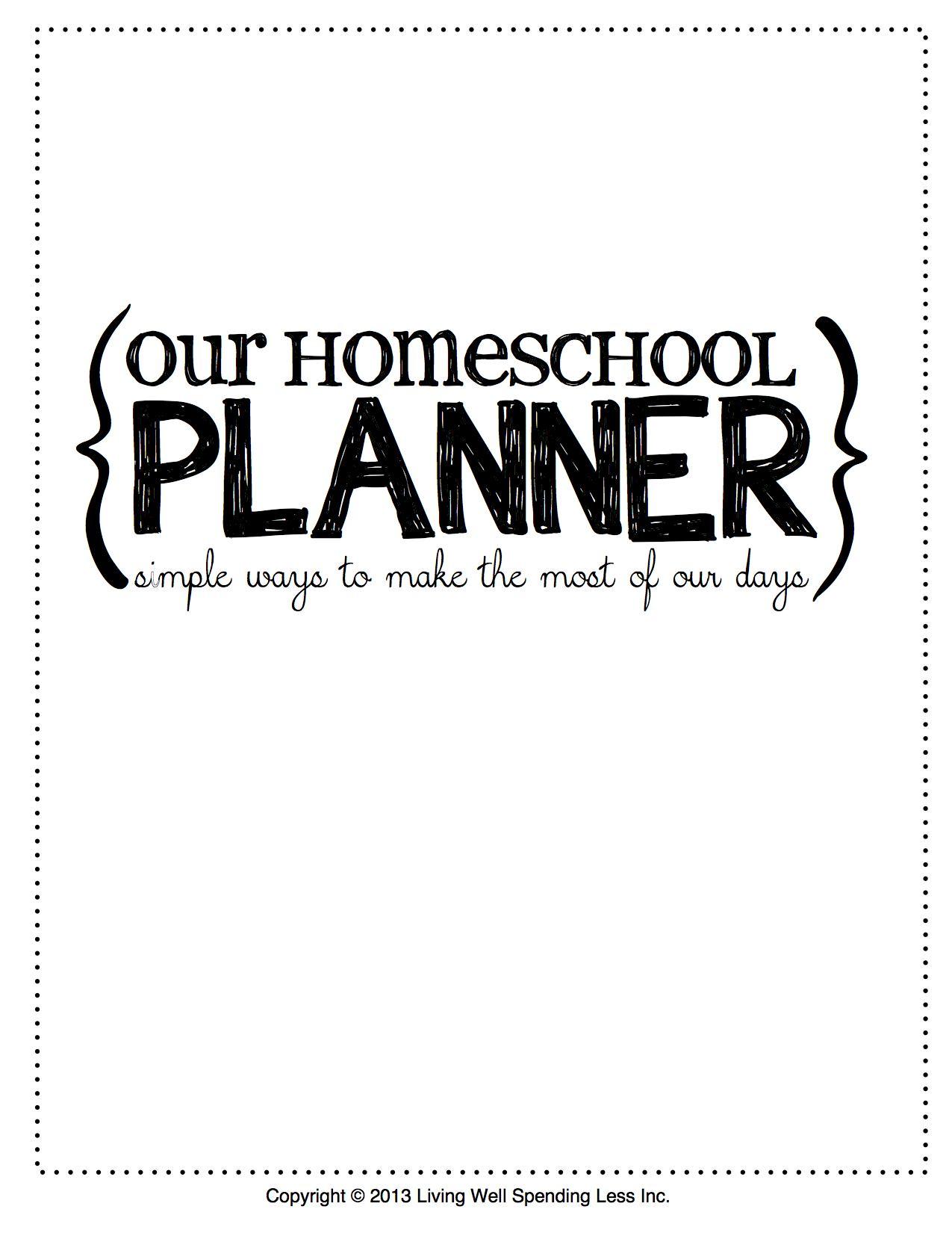 6 Images of Free Printable Homeschool Binder Cover