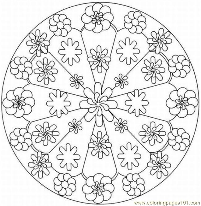 6 Images of Kaleidoscope Coloring Pages Free Printable