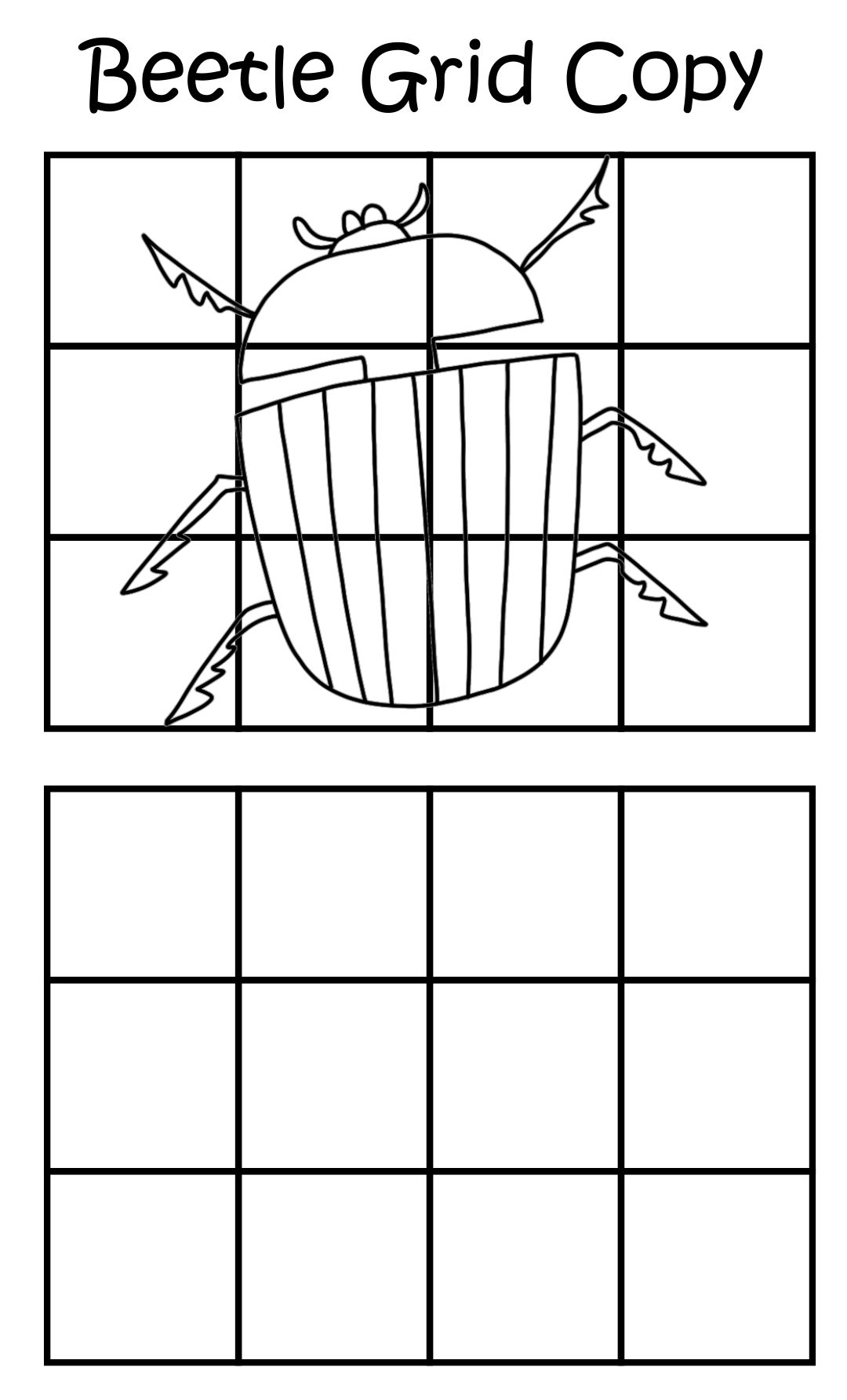 Images of Mystery Grid Drawing Worksheets Printables - Mystery Grid ...