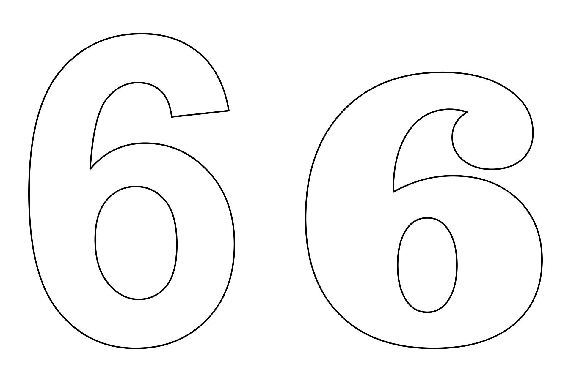 Printable Number 6 Template