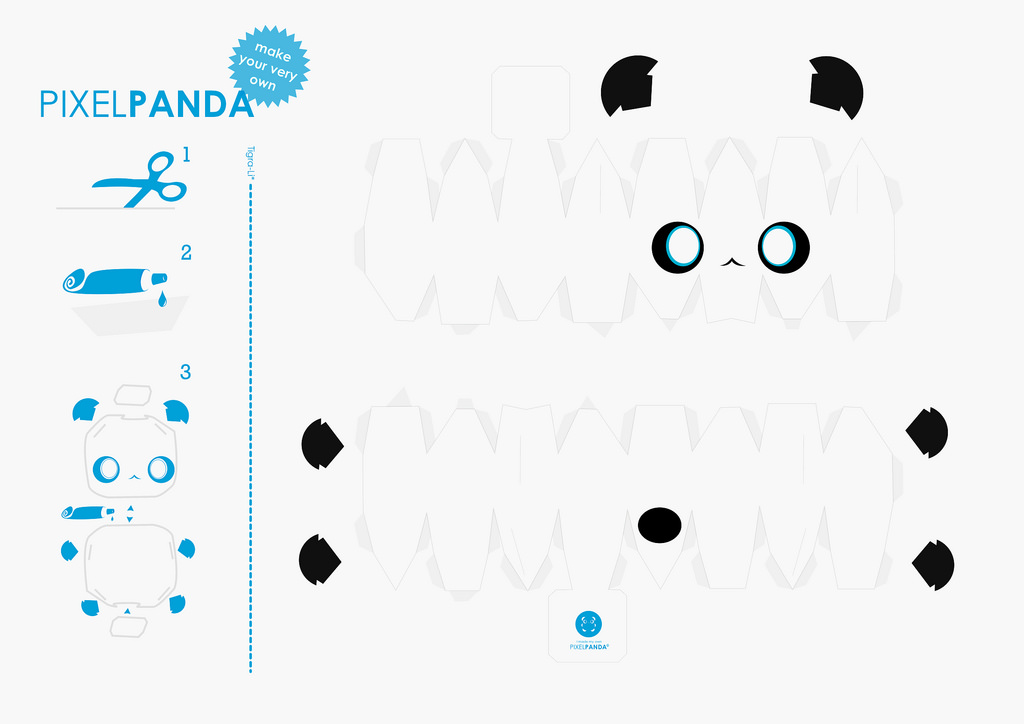 7 best images of panda cute printable crafts printable for Cute papercraft templates
