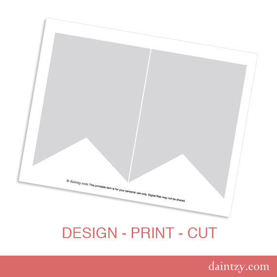 7 Images of Mini Printable Banner Flag Template
